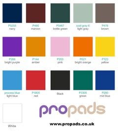 propads post protectors colour swatch chart