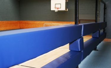 gym & sports rail padding in sports hall